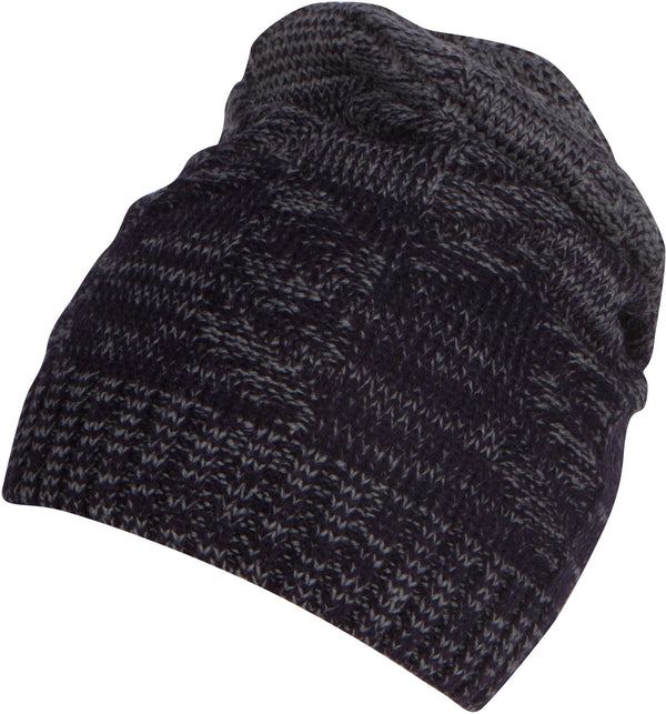 Sakkas Nils Slouchy Beanie Hat Warm and Cozy Heather and Patterned#color_1763-blue