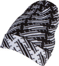 Sakkas Nils Slouchy Beanie Hat Warm and Cozy Heather and Patterned#color_1765-black
