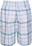 Sakkas Marious  Plaid Skate Surf Swim Trunks with Elastic Waist