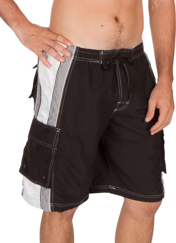 Sakkas Contrast Stripe Boardwalk Skate Surf Boardshort