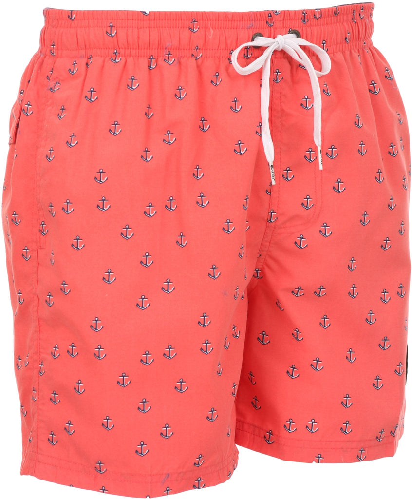 Sakkas Mens Sailor Sailboat Anchor Printed Skate Surf Board Short / Swim Trunk