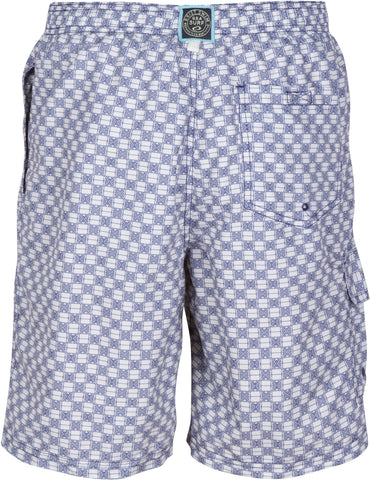 Sakkas Luca Checkered Patch Pocket Swim Trunk/Boardshort