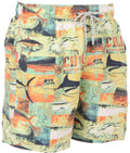 Sakkas Rayen Short Braided Drawstring Printed Skate Surf Board Short Swim Trunk