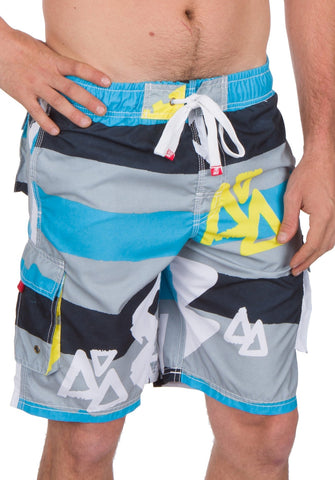 Sakkas Xavier Stretch Waistband No Wet Swim Trunk/ Boardshorts
