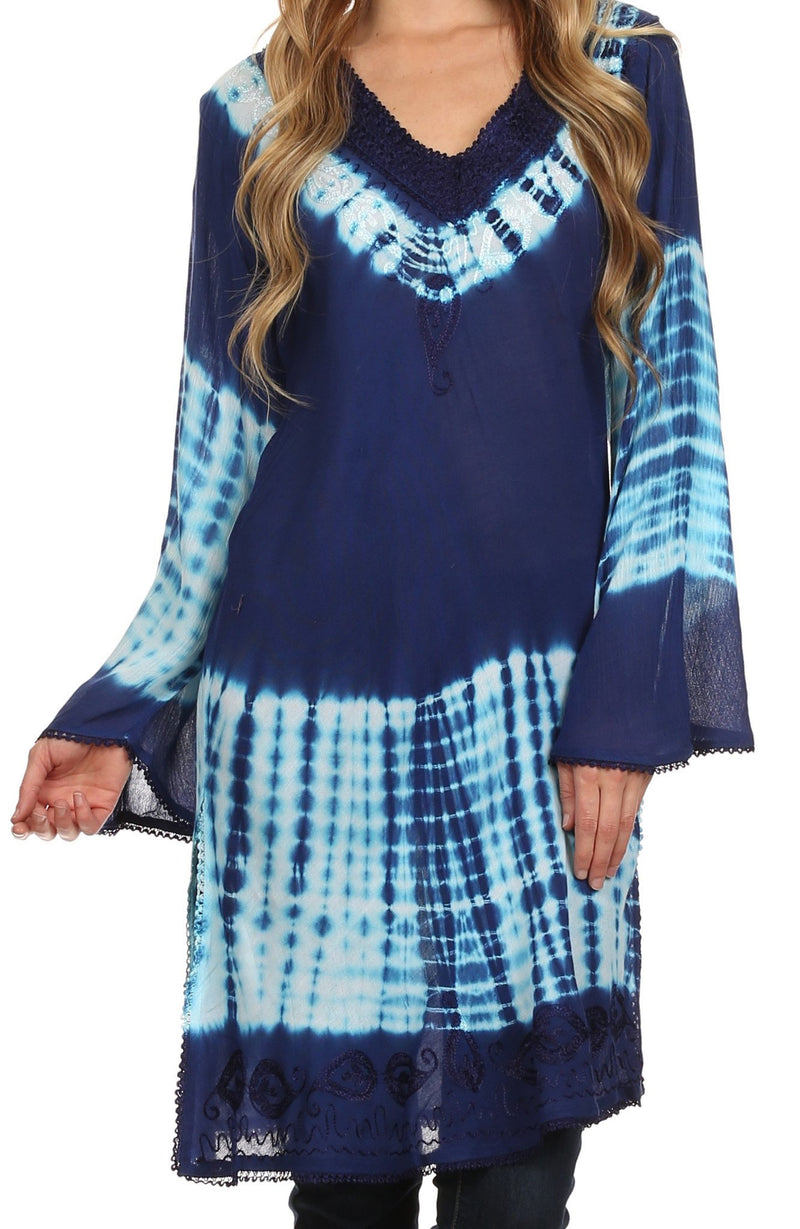Sakkas Aaheli Tie-Dye Tunic Top / Blouse / Cover Up