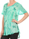 Sakkas Taylay Ombre Tie Dye Batik Long Embroidered Corset Neck Blouse Shirt Top
