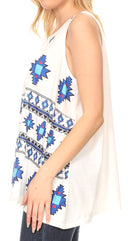 Sakkas Juliana Womens Summer Sleeveless Tank Top Printed Dashiki Jersey Knit