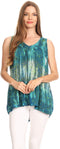 Sakkas Freya Dip Dyed Tie Dye Tank with Sequins and Embroidery