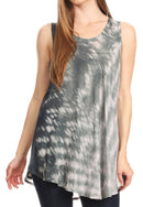 Sakkas Saba Womens Summer Casual Everyday Tie-dye Tunic Tank Top Light and Soft