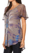 Sakkas Aline Women's Short Sleeve Casual Light Loose Scoop Neck Top Blouse Shirt
