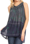 Sakkas Mina Women's Casual Loose Ombre Tie Dye Sleeveless Tank Top Tunic Blouse#color_19525-C2