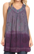 Sakkas Mina Women's Casual Loose Ombre Tie Dye Sleeveless Tank Top Tunic Blouse#color_19525-C5