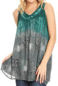 Sakkas Mina Women's Casual Loose Ombre Tie Dye Sleeveless Tank Top Tunic Blouse#color_C-3