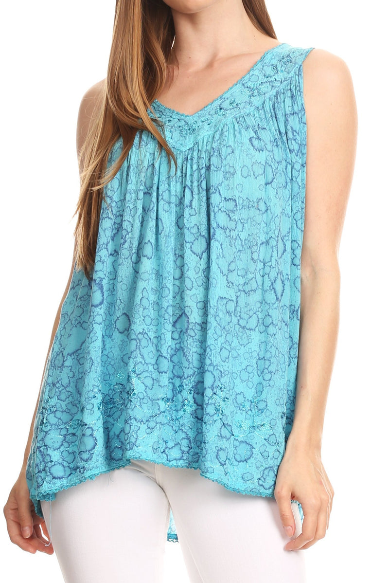 Sakkas Bohemian Summer Sleeveless Blouse