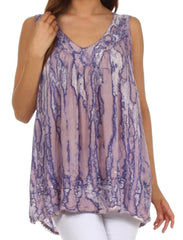 Sakkas Boho Love Sleeveless Blouse