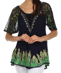 Sakkas New Spirit Batik Relaxed Fit Blouse