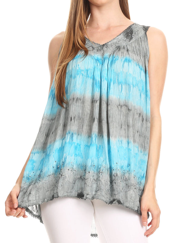 Sakkas Ocean Breeze Sleeveless Blouse