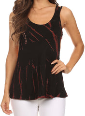 Sakkas Valentina Strapped Tie Dye Tank Cami With Scoop Neck