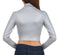 Sakkas Matte Liquid Mock Neck Turtleneck Long Sleeve Crop Top - Made in USA
