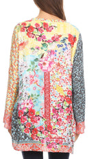 Sakkas Ince Womens  Long Sleeve Everyday Top Tunic Colorful and Lightweight