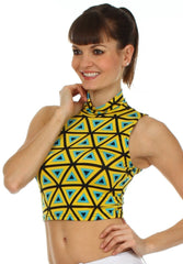 Sakkas Geometric Scuba Crop Top