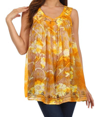 Sakkas Monika Embroidered Sleeveless Blouse