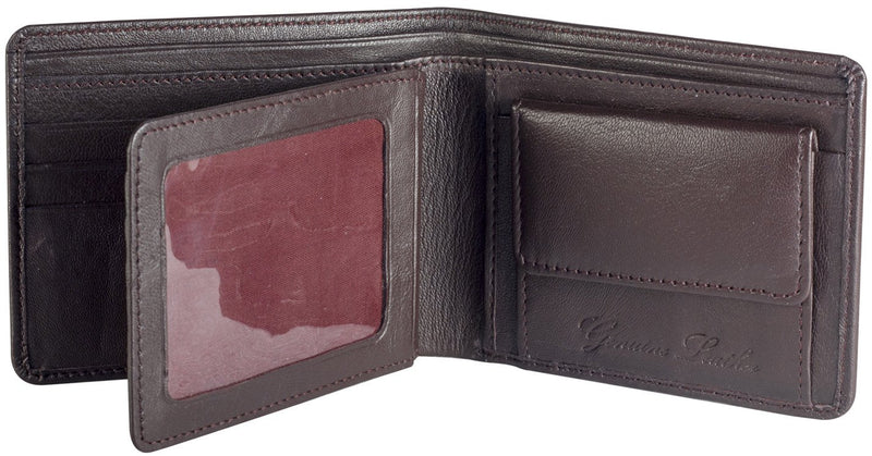 Sakkas Men's Authentic Leather Regular Bi-Fold Wallet - New!