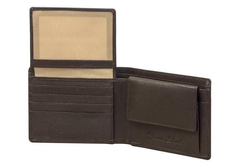 Sakkas Men's Leather Bi-fold Wallet -Id Windows / Card Slots with Gift Bag