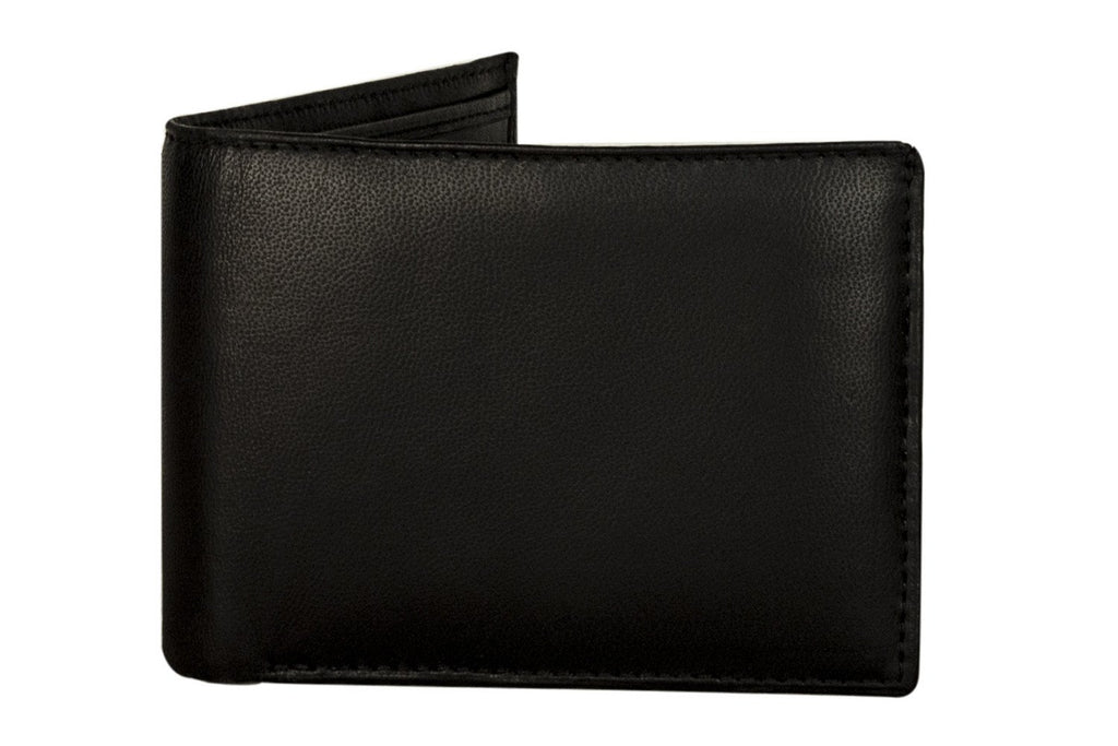 Sakkas Men's Bi-Fold Leather Wallet - Removable Card / ID Case - With Gift bag