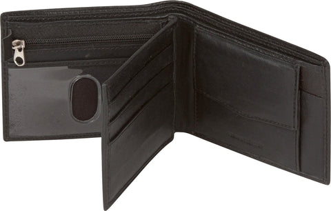 Sakkas Men's Bi-Fold Leather Wallet with 6 Card Slots/2 Coin Pkts with Gift bag