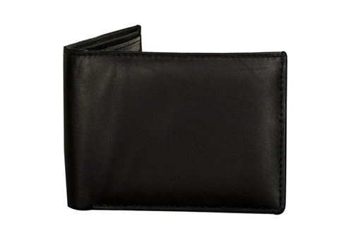 Sakkas Men's Bi-Fold Leather Wallet with 2 Size ID Card Slots - Comes in a Gift bag