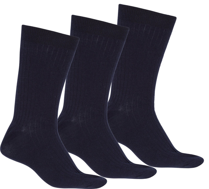 Sakkas Men's Cotton Blend Ribbed Dress Socks