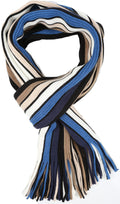 Sakkas Rhyland Striped Color Block Knitted Winter Scarf With Fringe#Color_Thin Stripe