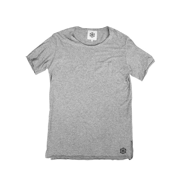 Batā Pocket T-Shirt - Heather Grey