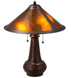 Mission Van Erp Amber Mica Table Lamp
