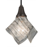 "9""W Metro Fusion Branches Handkerchief Contemporary Mini Pendant"