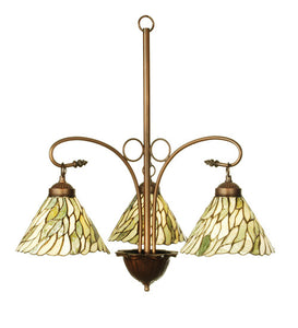 "24""W Jadestone Willow 3 Lt Tiffany Chandelier"