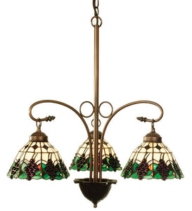 "24""W Meyda Grape 3 Lt Tiffany Chandelier"