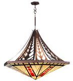 "60""W North Sonoma Tiffany Southwest Inverted Pendant"