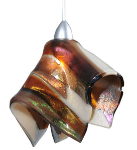 "8""W Metro Fusion Marina Fused Glass Handkerchief Mini Pendant"