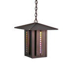 "14""Sq Moss Creek Stepping Stone Outdoor Lantern Pendant"