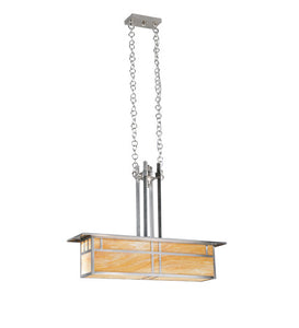 "35""L Double Bar Mission Oblong Pendant"