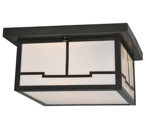 "12""Sq Hyde Park Valley View Outdoor Flushmount"