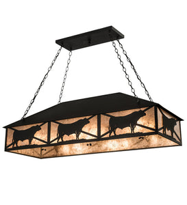 "50""L Steer Southwest Island/Billiard Pendant 