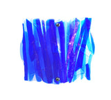 "11""W Metro Fusion Azul Fused Glass Panel Wall Sconce"