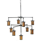 "42""W Fulton Prime 9 Lt Arts & Crafts Chandelier"