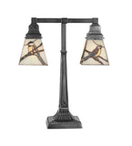 "19.5""H Tiffany Early Morning Visitor Wildlife 2 Lt Desk Lamp"