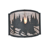 "12""W Grizzly Bear Wall Sconce"