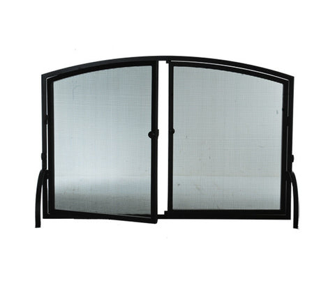 "50""W X 33""H Prime Operable Door Arched Fireplace Screen"