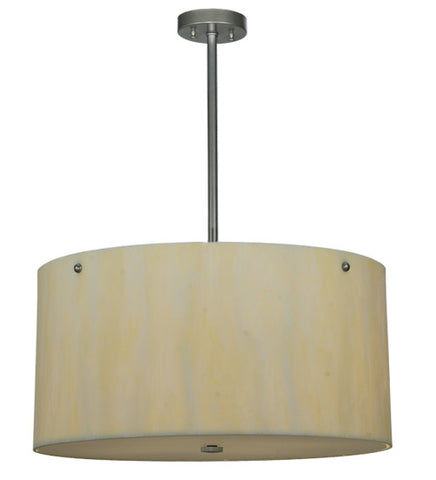 "24""W Cilindro Faux Alabaster Contemporary Pendant"